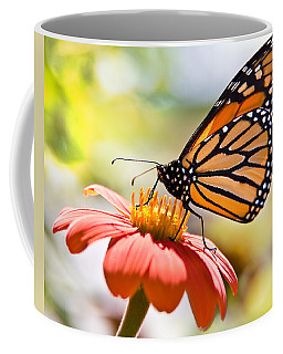 Coffee Mug featuring the photograph Monarch Butterfly by Chris Lord