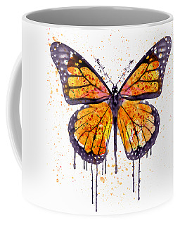Monarch Butterfly Watercolor Coffee Mug