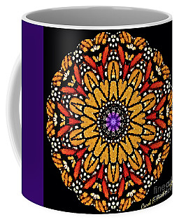 Monarch Butterfly Wings Kaleidoscope Coffee Mug