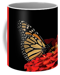 Monarch Enjoying Fall Flowers Coffee Mug