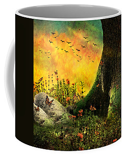 Monarch Meadow Coffee Mug by Ally  White