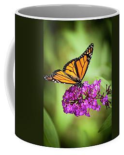 Coffee Mug featuring the photograph Monarch Moth On Buddleias by Carolyn Marshall