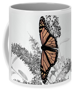 Coffee Mug featuring the photograph  Monarch Mug by Lara Ellis