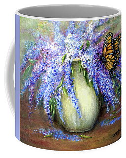 Monarch Of The Lilacs Coffee Mug