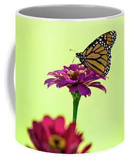 Monarch On A Zinnia Coffee Mug