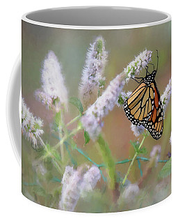 Coffee Mug featuring the photograph Monarch On Mint 2 by Lori Deiter