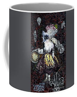 Monarch Steampunk Goddess Coffee Mug by Genevieve Esson