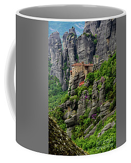 Monastery Of Saint Nicholas Of Anapafsas, Meteora, Greece Coffee Mug
