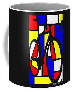 Mondrianesque Road Bike Coffee Mug