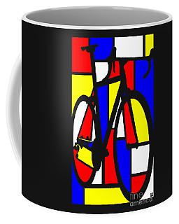 Mondrianesque Road Bike Coffee Mug
