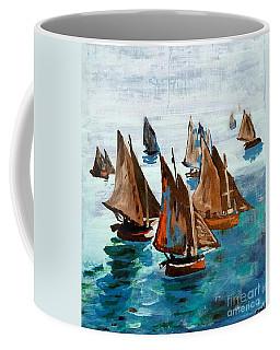 Monet Fishing Boats Calm Seas Coffee Mug