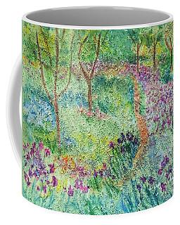 Monet Inspired Iris Garden Coffee Mug