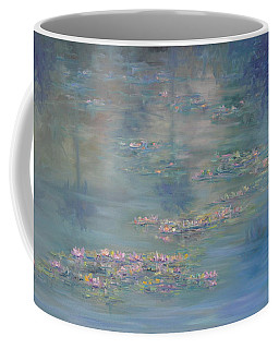 Monet Style Water Lily Peaceful Tropical Garden Painting Print Coffee Mug
