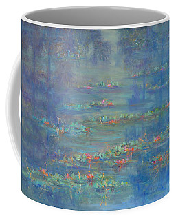 Monet Style Water Lily Pond Landscape Painting Coffee Mug