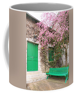 Monet's Bench Coffee Mug by Catherine Alfidi