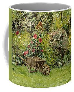 Monet's Garden Wheelbarrel Coffee Mug