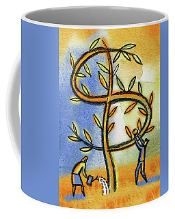 Coffee Mug featuring the painting Money Tree by Leon Zernitsky