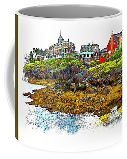 Monhegan West Shore Coffee Mug by Tom Cameron