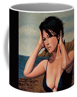 Monica Bellucci 2 Coffee Mug by Paul Meijering