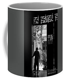 Monk Religion Buddha Pagoda Vietnam Blk Wht  Coffee Mug