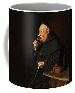 Monk With A Wine Coffee Mug