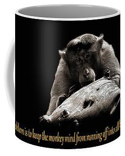 Monkey And Thoughts  Coffee Mug by Manjot Singh Sachdeva