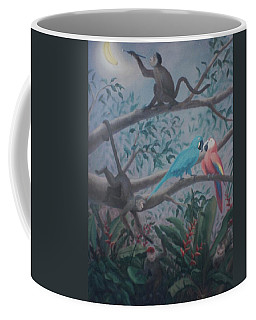Monkey Artist Painting The Moon  Coffee Mug