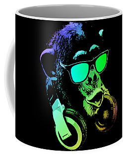 Monkey Dj Neon Light Coffee Mug