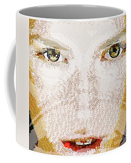 Coffee Mug featuring the painting Monkey Glows by Catherine Lott
