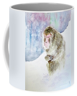 Monkey In Meditation Coffee Mug by Yoshiko Mishina