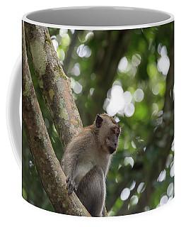 Monkey Perched On A Tree Coffee Mug