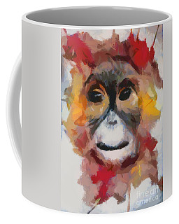 Coffee Mug featuring the painting Monkey Splat by Catherine Lott
