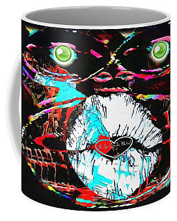 Coffee Mug featuring the painting Monkey Works by Catherine Lott