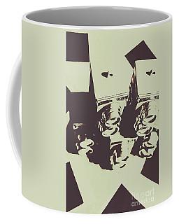 Monochromatic Antique Cameras And Photos Coffee Mug