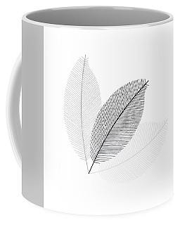 Monochrome Leaves Coffee Mug