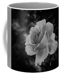 Monochrome Rose Macro Coffee Mug