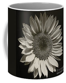 Monochrome Sunflower Coffee Mug