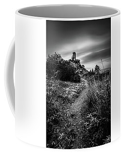 Monochrome Tower - Tower Of Caprona, Monochrome Long Exposure Coffee Mug