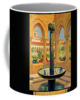 Monreale Palermo Italy Vintage Poster Restored Coffee Mug