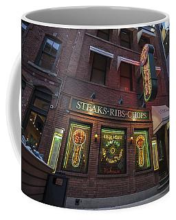 Coffee Mug featuring the photograph Monroe St Steakhouse by Nicholas Grunas