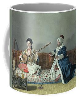 Monsieur Levett And Mademoiselle Helene Glavany In Turkish Costumes Coffee Mug