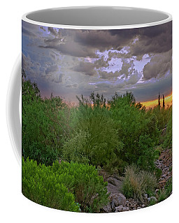 Coffee Mug featuring the photograph Monsoon Sunset H56 by Mark Myhaver