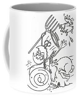 Monster Getting Chased Coffee Mug