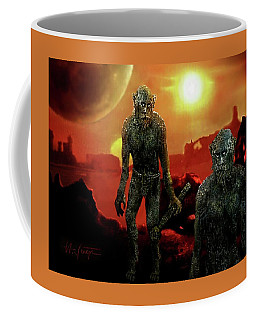 Coffee Mug featuring the digital art Monsters ? by Hartmut Jager