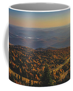 Coffee Mug featuring the photograph Mont Tremblant Summit Panorama by Andy Konieczny