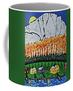 Coffee Mug featuring the painting Montana Cabin Rentals by Jonathon Hansen