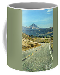 Coffee Mug featuring the photograph Montana Road by Jill Battaglia