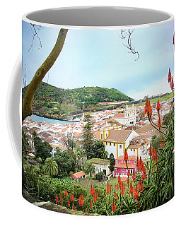 Coffee Mug featuring the photograph Monte Brasil And Angra Do Heroismo, Terceira by Kelly Hazel