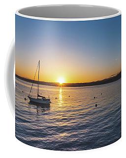 Monterey Bay Sailboat At Sunrise Coffee Mug