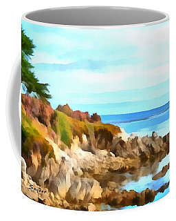 Coffee Mug featuring the photograph Monterey Coastline Watercolor by Floyd Snyder